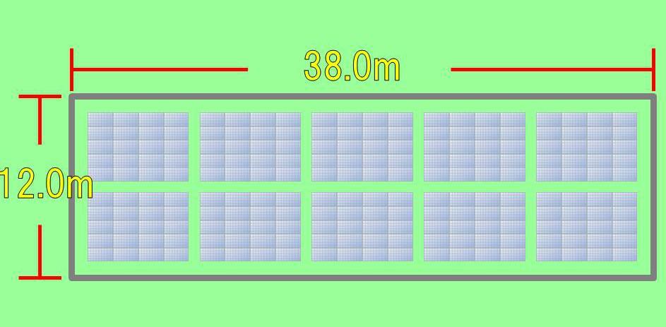 50kw野立て設置イメージ図①