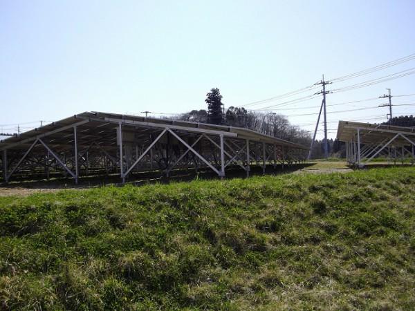 フェンスの無い太陽光発電所